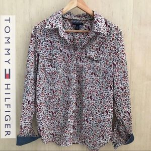 Tommy Hilfiger Button Down/ Floral Shirt
